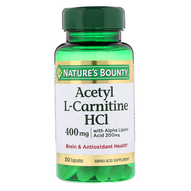 Жиросжигатель Nature's Bounty Acetyl L-Carnitine HCL 400 mg 30 капсул