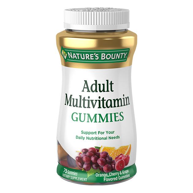 Витамины Nature's Bounty Adult Multivitamin 75 софтгель Апельсин & Вишня & Виноград