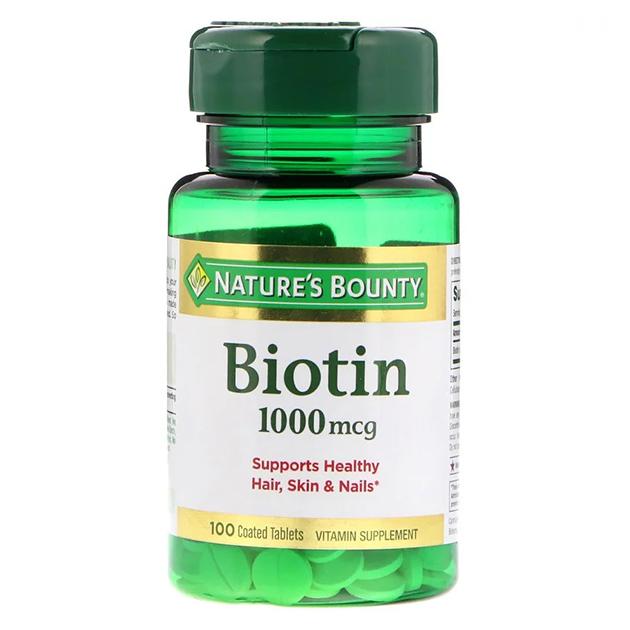 Витамины Nature's Bounty Biotin 1000 mcg 100 таблеток с покрытием