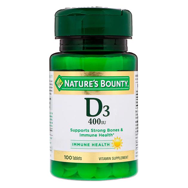 Витамины Nature's Bounty D3 25 mcg 100 софтгель