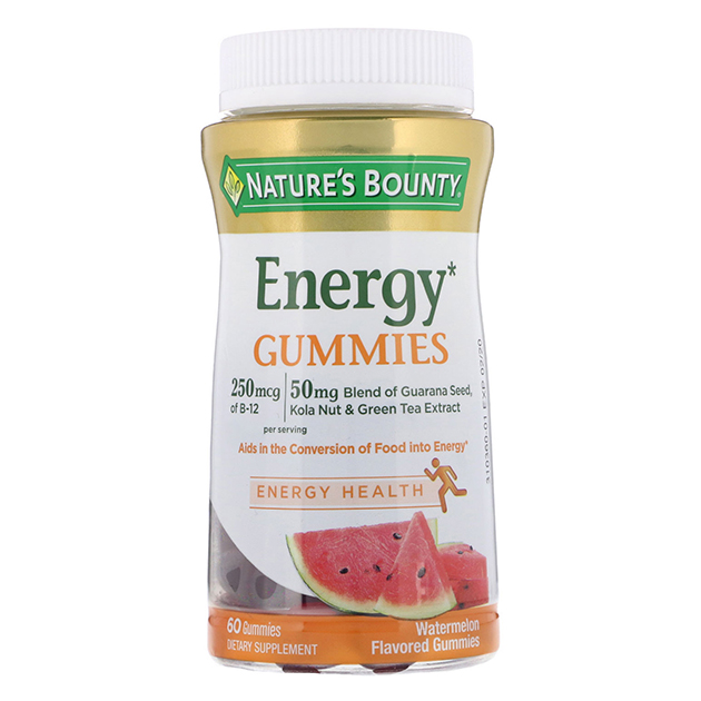 Витамины Nature's Bounty Energy Gummies 60 конфет Арбуз