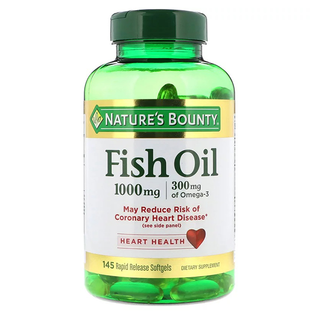 Жирные кислоты Nature's Bounty Fish Oill 1000 mg 145 софтгель