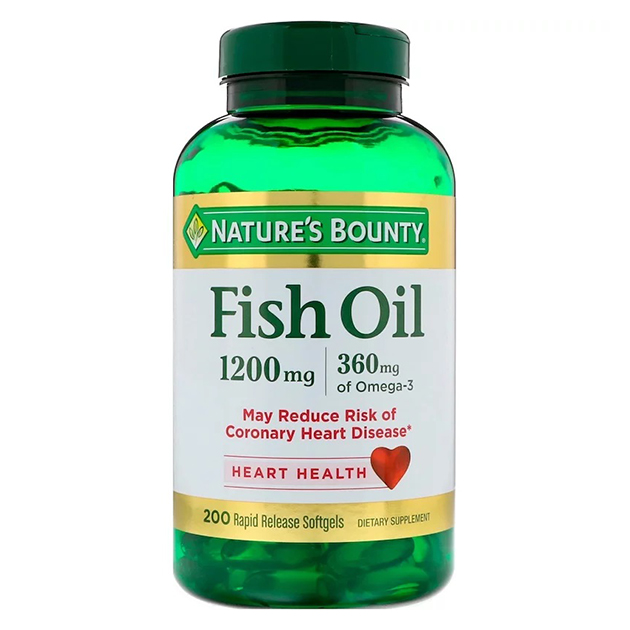 Жирные кислоты Nature's Bounty Fish Oill 1200 mg 200 софтгель