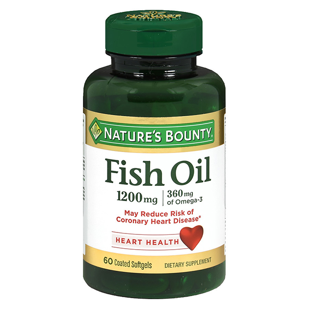 Жирные кислоты Nature's Bounty Fish Oill 1200 mg 60 софтгель