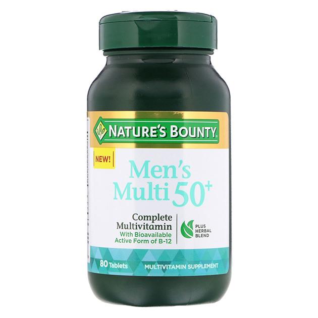 Витамины Nature's Bounty Men's Multi 50+ 80 таблеток