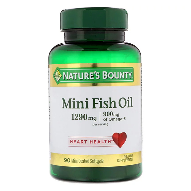 Жирные кислоты Nature's Bounty Mini Fish Oill 1290 mg 90 софтгель