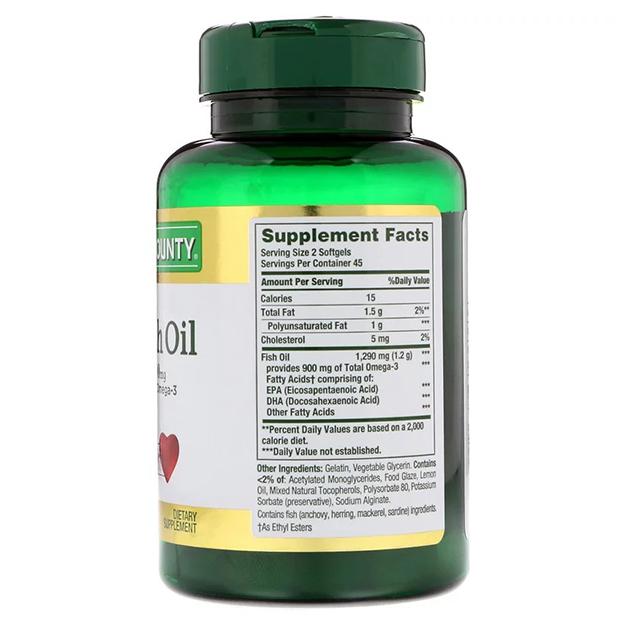 Жирные кислоты Nature's Bounty Mini Fish Oill 1290 mg 90 софтгель
