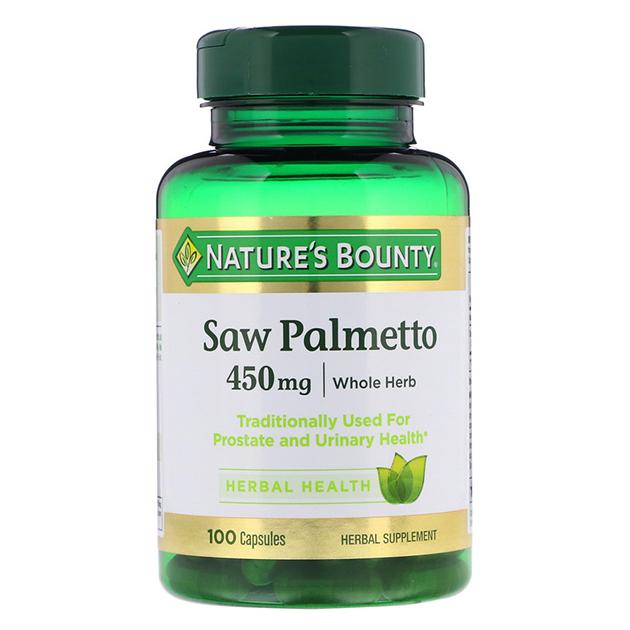 Стимулятор тестостерона Nature's Bounty Saw Palmento 450 mg 100 капсул
