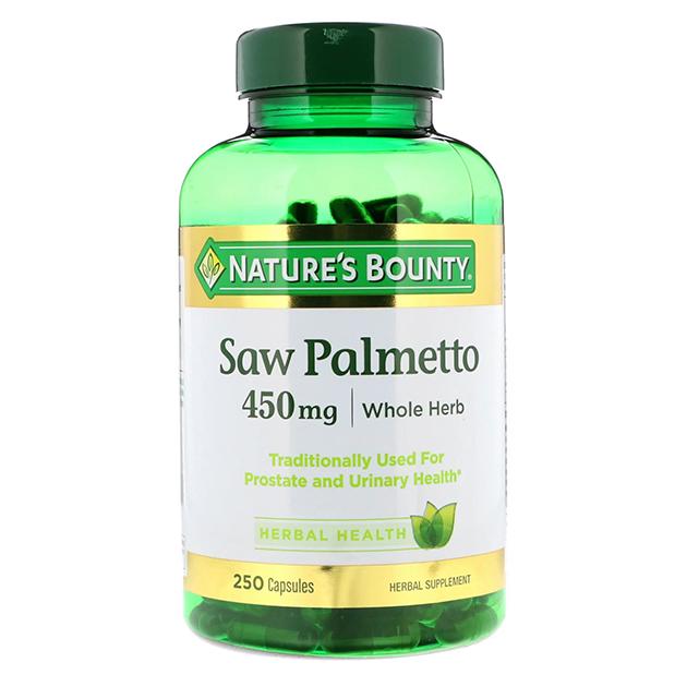 Стимулятор тестостерона Nature's Bounty Saw Palmento 450 mg 250 капсул