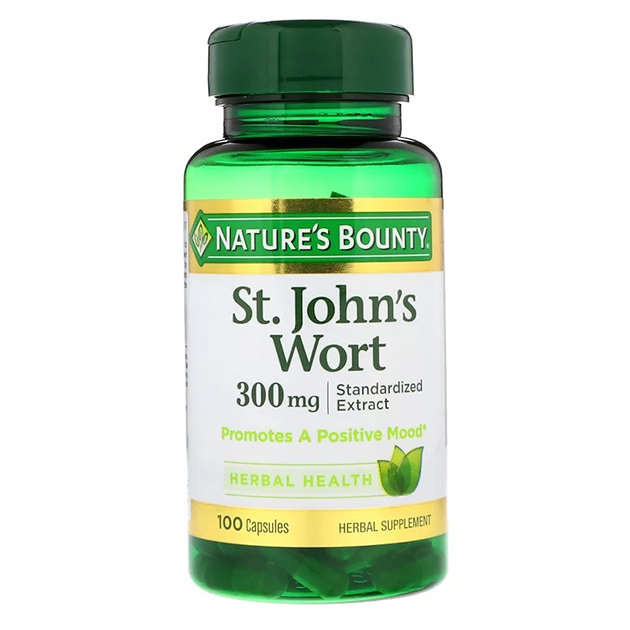 Натуральный экстракт Nature's Bounty St.John's Wort 100 капсул