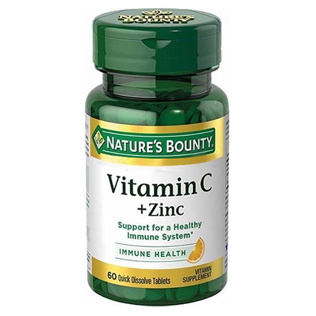 Витамины Nature's Bounty Vitamin C + Zink 60 таблеток
