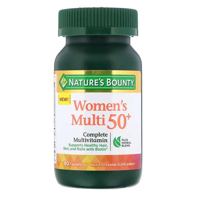 Витамины Nature's Bounty Women's Multi 50 plus 80 таблеток