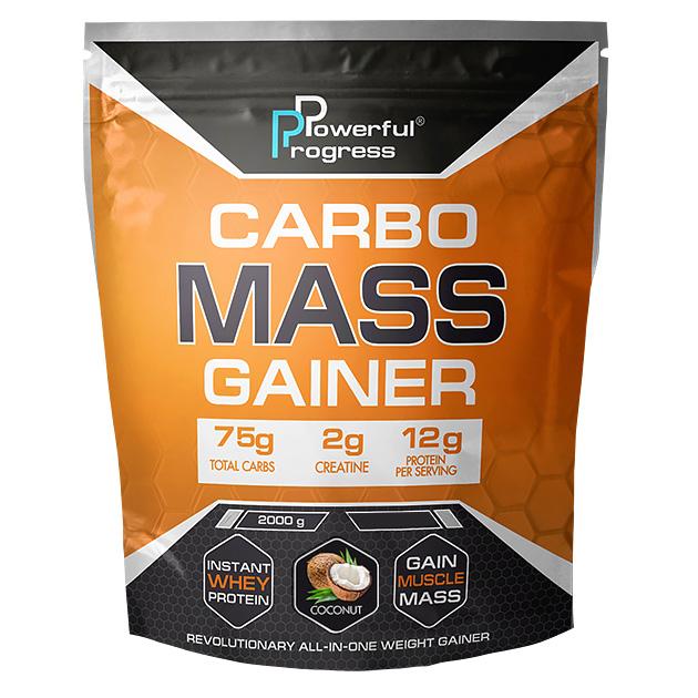 Гейнер Powerful Progress Сarbo Mass Gainer 2 кг Кокос