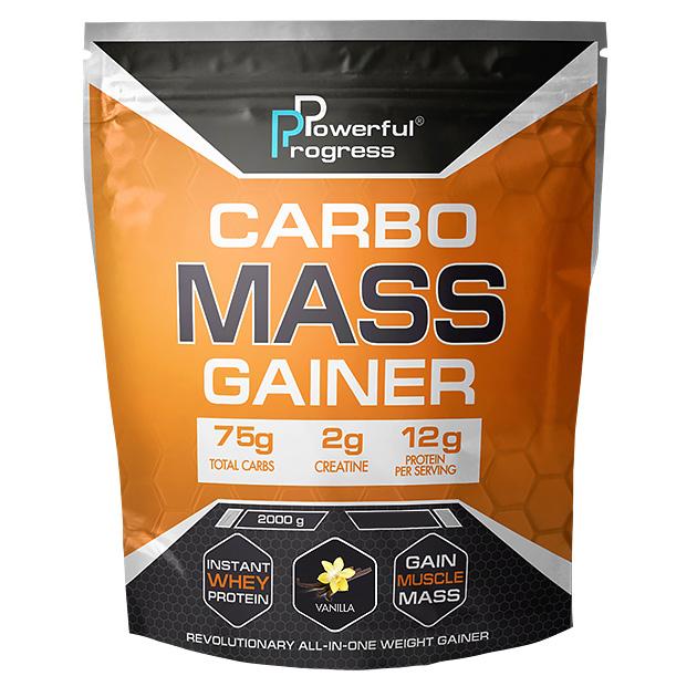 Гейнер Powerful Progress Сarbo Mass Gainer 2 кг Ваниль