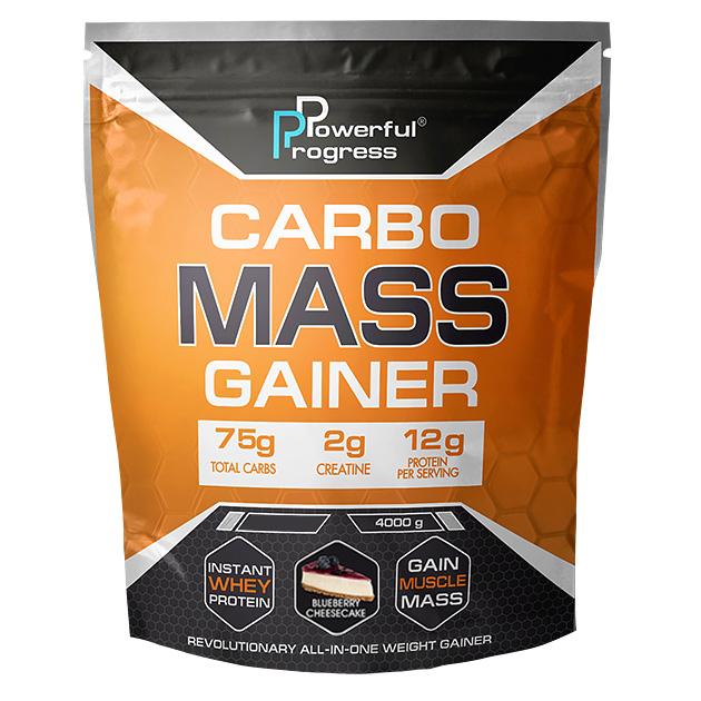Гейнер Powerful Progress Сarbo Mass Gainer 4 кг Черничный чизкейк