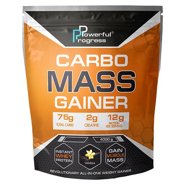 Гейнер Powerful Progress Сarbo Mass Gainer 4 кг Ваниль
