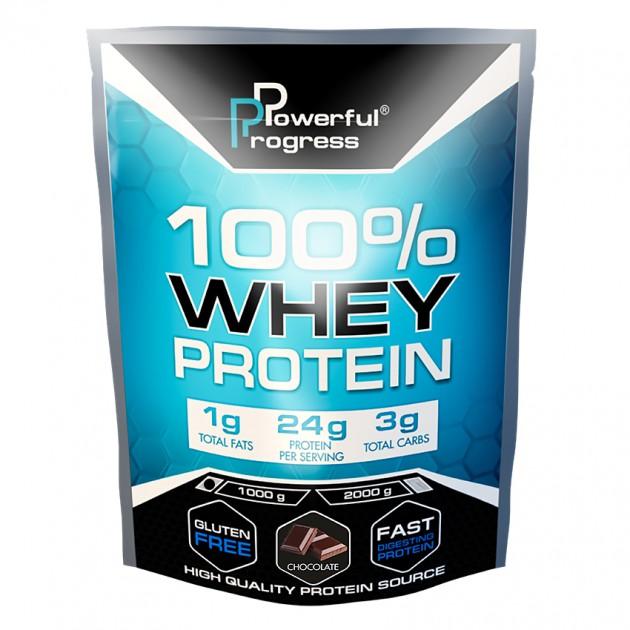Протеин Powerful Progress 100% Whey protein 1 кг Шоколад