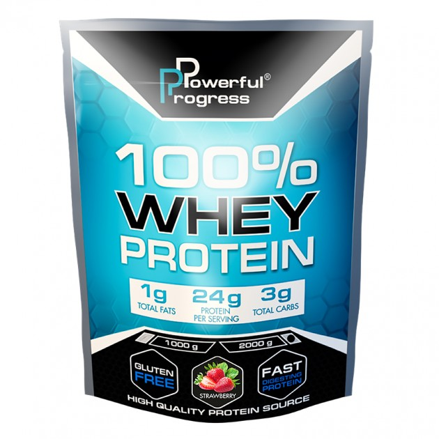 Протеин Powerful Progress 100% Whey protein 2 кг Клубника