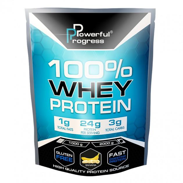 Протеин Powerful Progress 100% Whey protein 2 кг Банан