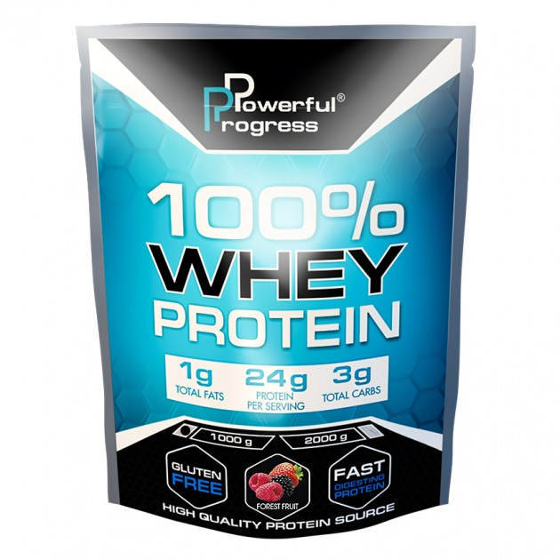Протеин Powerful Progress 100% Whey protein 1 кг Лесные ягоды
