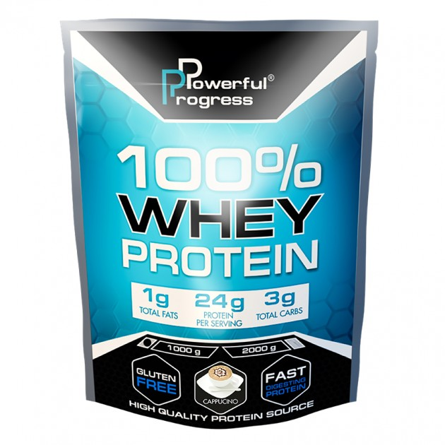 Протеин Powerful Progress 100% Whey protein 1 кг Капучино