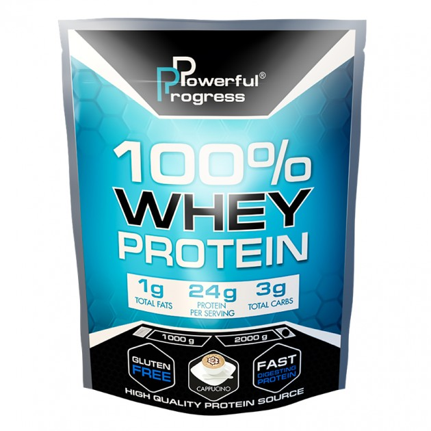 Протеин Powerful Progress 100% Whey protein 2 кг Капучино
