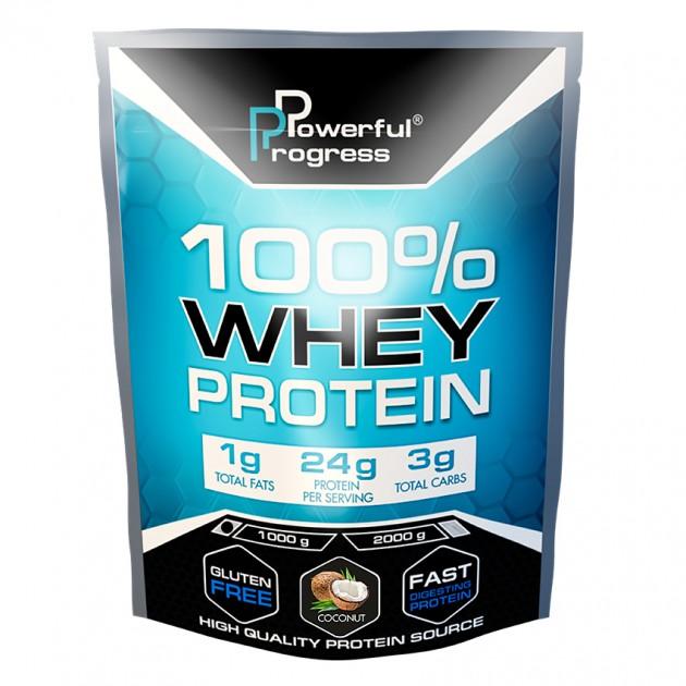 Протеин Powerful Progress 100% Whey protein 1 кг Кокос
