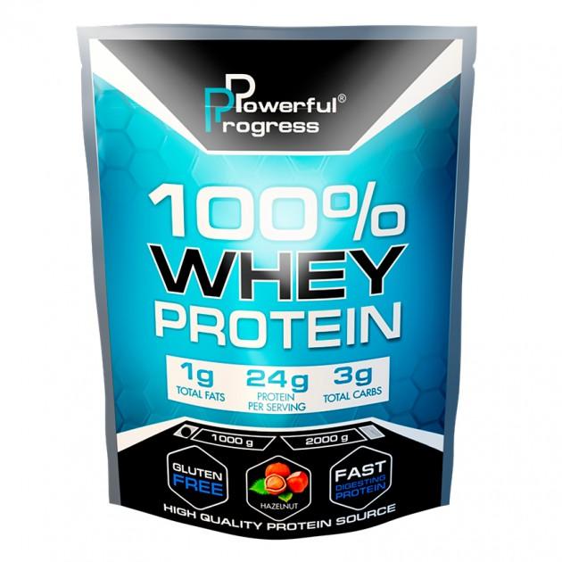 Протеин Powerful Progress 100% Whey protein 1 кг Лесной орех