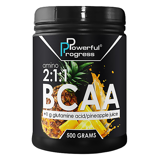 Аминокислота Powerful Progress BCAA 2:1:1 500 грамм Ананас