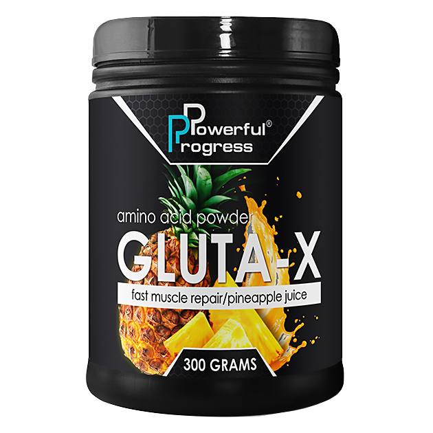 Глютамин Powerful Progress L-Glutamine 300 грамм Ананас
