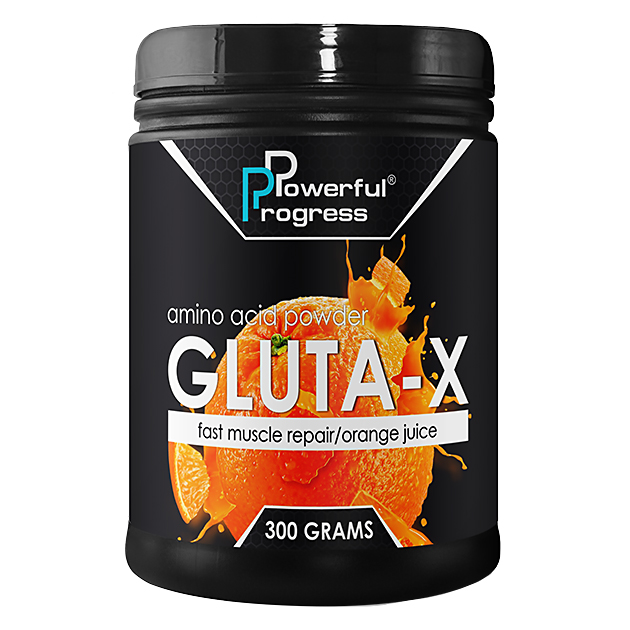Глютамин Powerful Progress L-Glutamine 300 грамм Апельсин