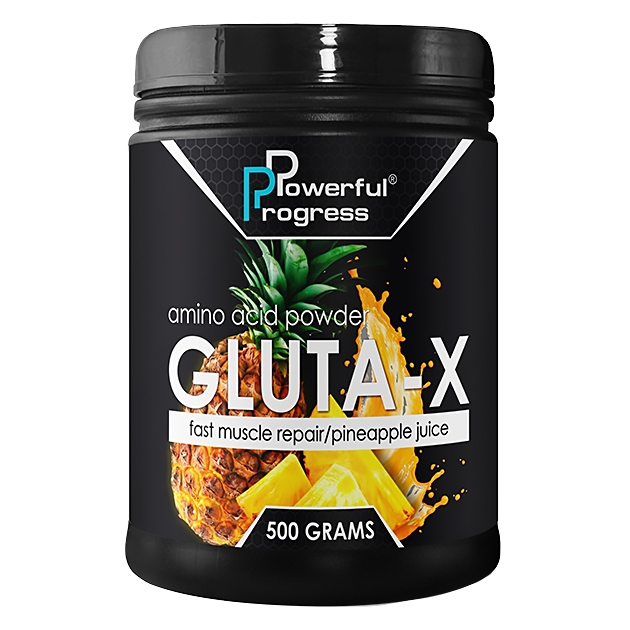 Глютамин Powerful Progress L-Glutamine 500 грамм Ананас