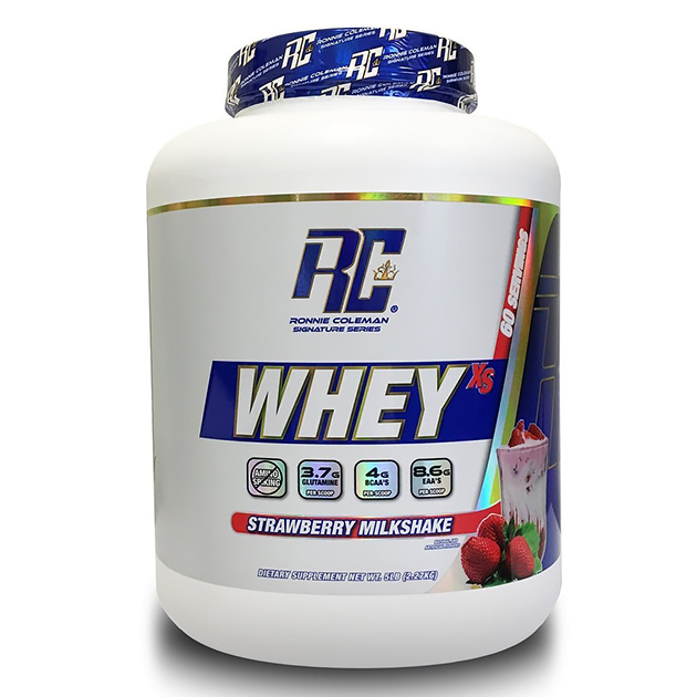 Протеин Ronnie Coleman Whey XS 2268 г Клубнично-молочный коктейль
