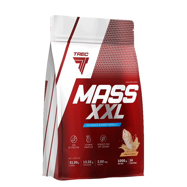 Гейнер Trec Nutrition Mass XXL 1000 г Карамель - Ваниль