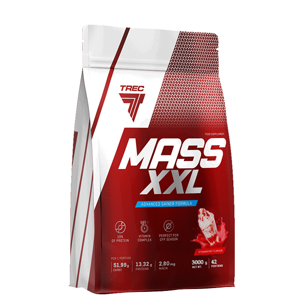 Гейнер Trec Nutrition Mass XXL 3000 г Клубника