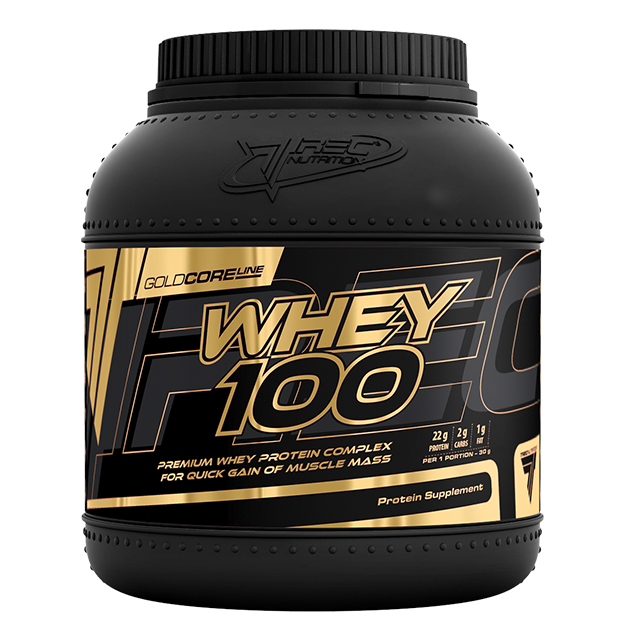Протеин Trec Nutrition Gold Core Line Whey 100 1500 г Клубника