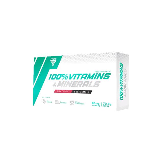 Витаминно-Минеральный комплекс Trec Nutrition 100% Vitamins & Minerals 60 капс