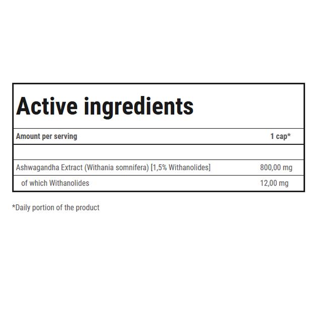 Растительный экстракт Ашваганда Trec Nutrition Ashwagandha 800 60 капс