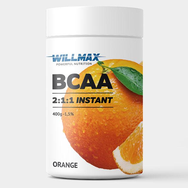 Аминокислоты Willmax BCAA 400 г Апельсин