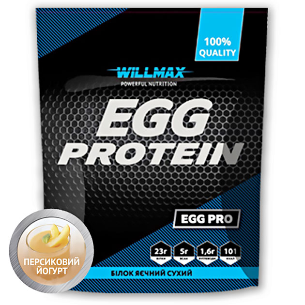 Протеин Willmax Egg Protein 900 г Персиковый Йогурт