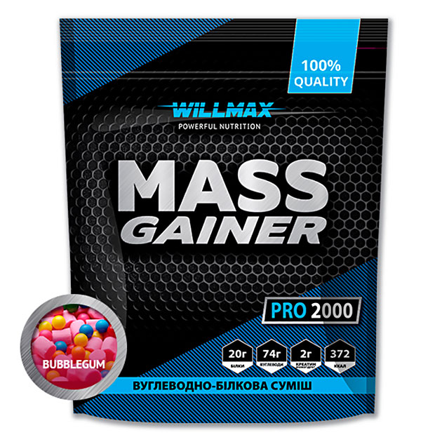 Гейнер Willmax Mass Gainer Pro 2000 г Бабл-Гам