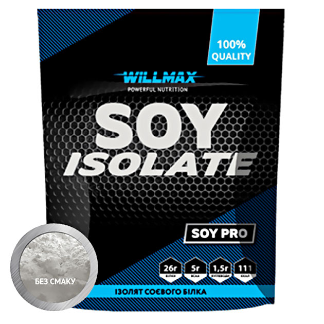 Протеин Willmax Soy Isolate 900 г Натуральный
