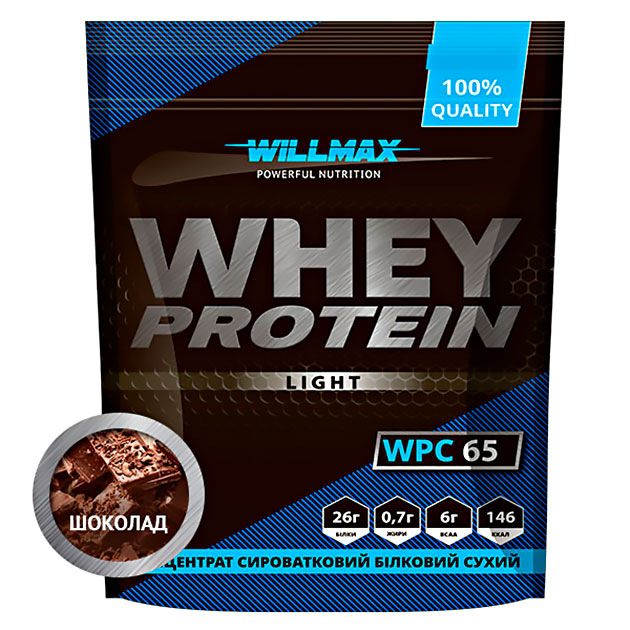 Протеин Willmax Whey Protein 65 Light 1000 г Шоколад