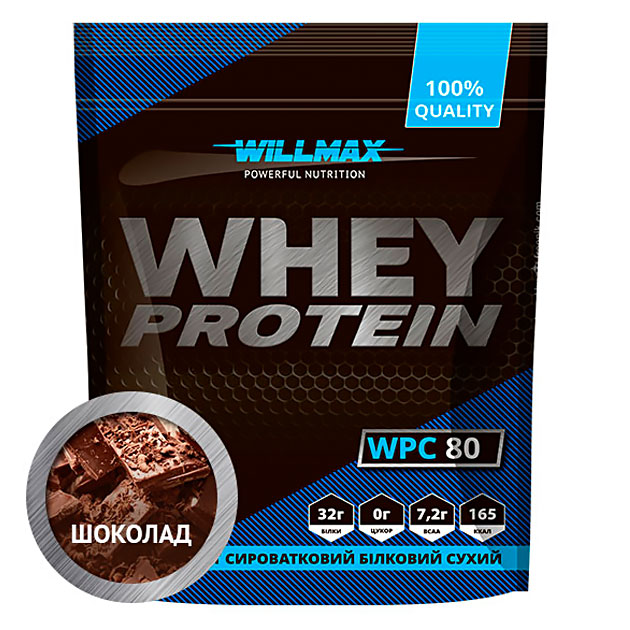 Протеин Willmax Whey Protein 80 920 г Шоколад