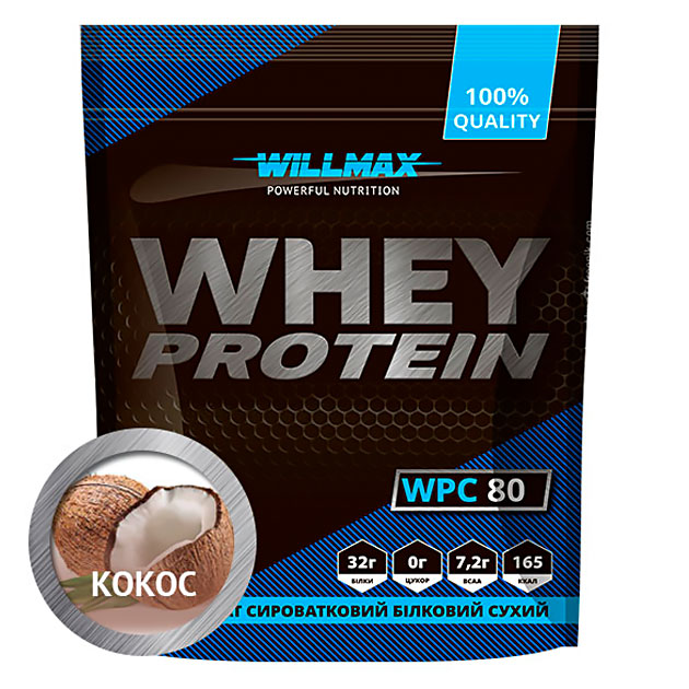 Протеин Willmax Whey Protein 80 920 г Кокос