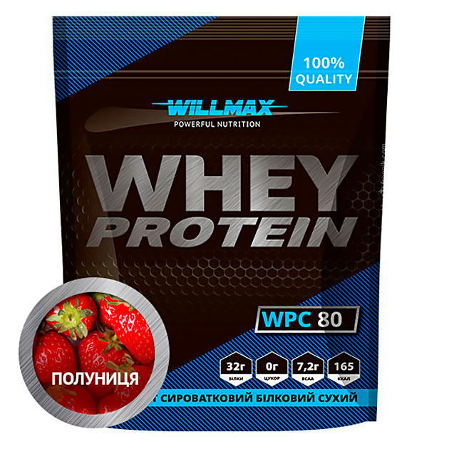 Протеин Willmax Whey Protein 80 920 г Клубника